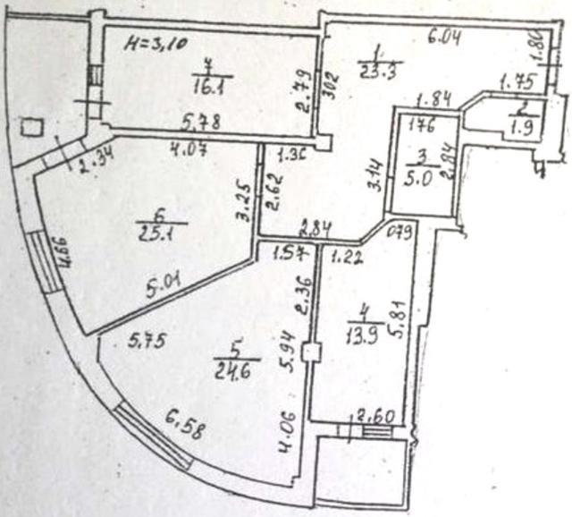 Продается 3-комнатная квартира в новострое на ул. Черняховского — 140 000 у.е. (фото №13)