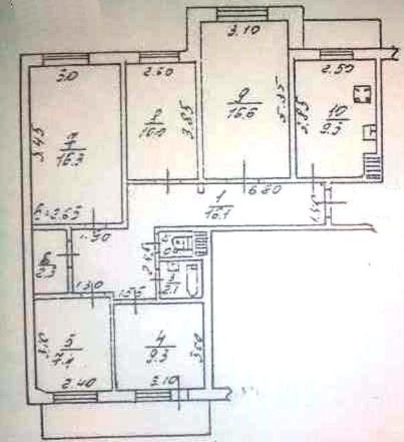 Продается 5-комнатная квартира на ул. Фонтанская Дор. — 70 000 у.е. (фото №11)