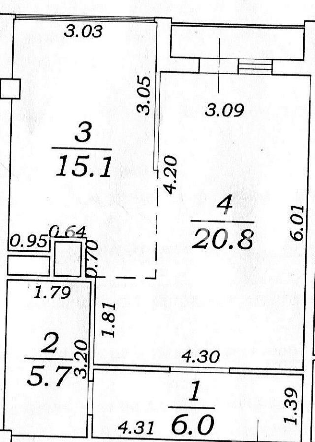 Продается 1-комнатная квартира в новострое на ул. Гагаринское Плато — 75 000 у.е.