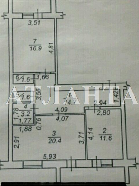 Продается 2-комнатная квартира на ул. Центральная — 55 000 у.е. (фото №7)