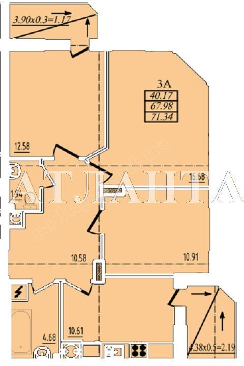 Продается 3-комнатная квартира в новострое на ул. Радужный 2 М-Н — 45 000 у.е. (фото №11)