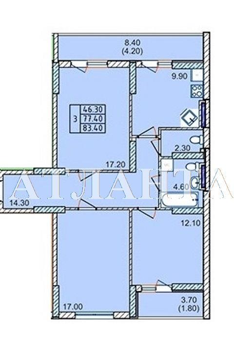 Продается 3-комнатная квартира в новострое на ул. Левитана — 49 500 у.е. (фото №6)