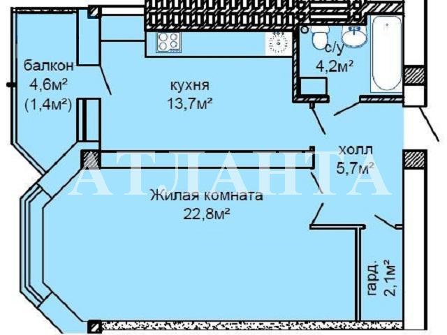 Продается 1-комнатная квартира на ул. Костанди — 47 000 у.е. (фото №2)