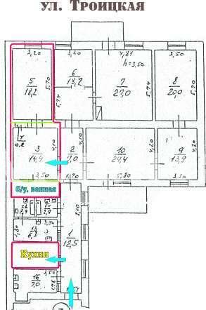 Продается 2-комнатная квартира на ул. Троицкая — 30 000 у.е.