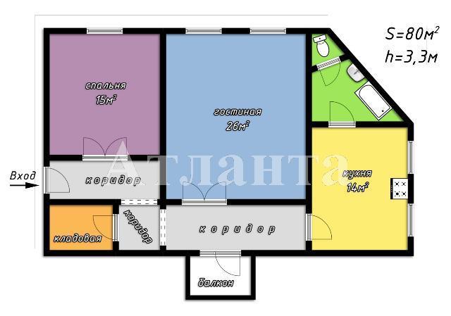 Продается 2-комнатная квартира на ул. Гоголя — 65 000 у.е. (фото №2)