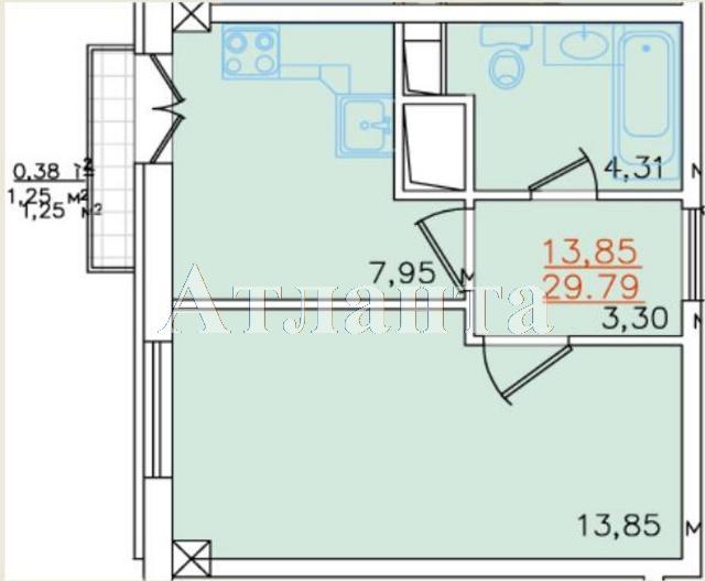 Продается 1-комнатная квартира в новострое на ул. Жемчужная — 27 000 у.е. (фото №3)