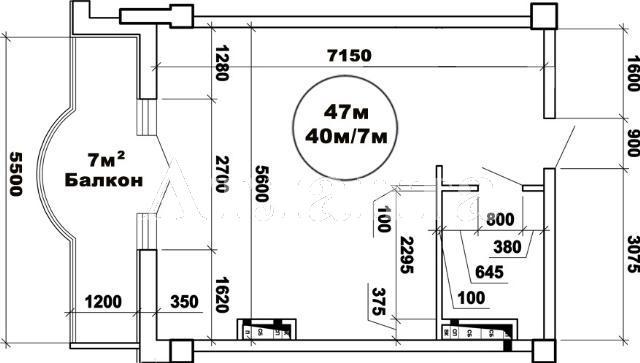 Продается 1-комнатная квартира в новострое на ул. Французский Бул. — 90 000 у.е. (фото №2)