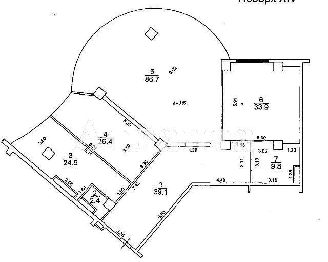 Продается 4-комнатная квартира в новострое на ул. Генуэзская — 168 000 у.е. (фото №2)