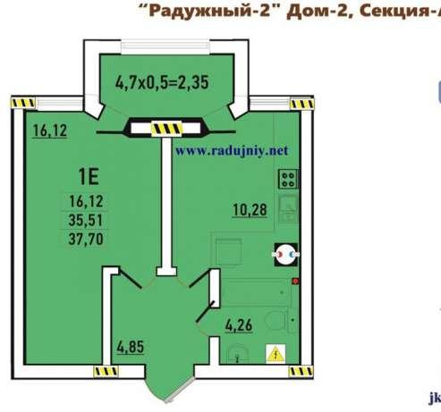 Продается 1-комнатная квартира в новострое на ул. Радужный М-Н — 26 000 у.е.