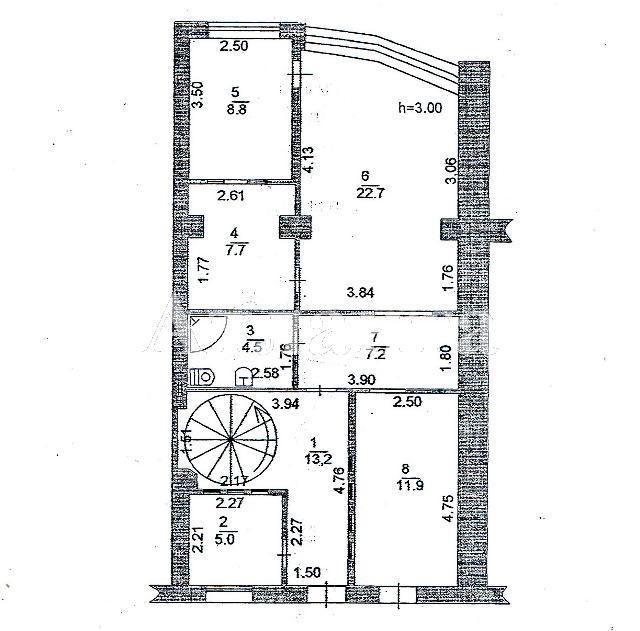 Продается 3-комнатная квартира на ул. Набережная — 90 000 у.е. (фото №6)