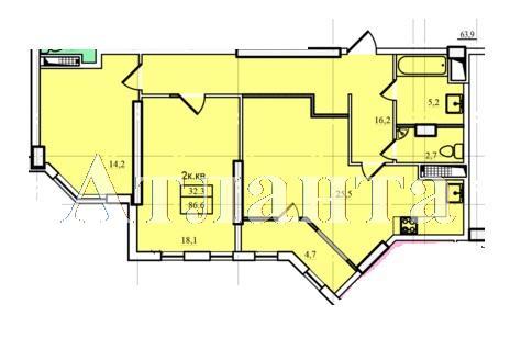 Продается 2-комнатная квартира в новострое на ул. Проценко — 50 740 у.е. (фото №3)