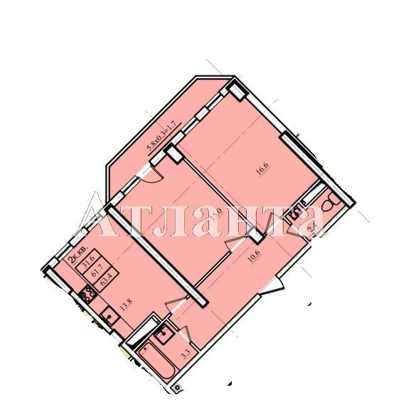 Продается 2-комнатная квартира в новострое на ул. Проценко — 39 550 у.е.