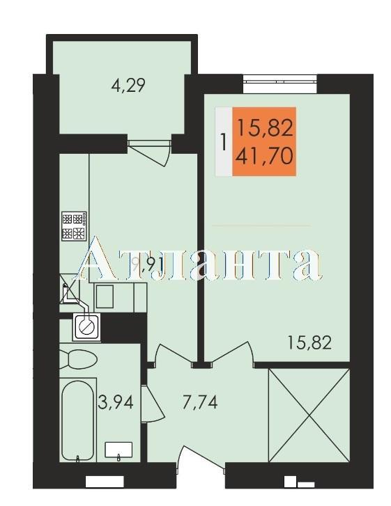 Продается 1-комнатная квартира в новострое на ул. Чехова — 23 160 у.е. (фото №4)