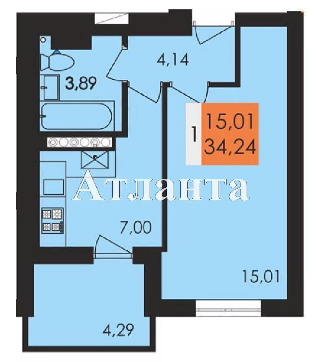 Продается 1-комнатная квартира в новострое на ул. Чехова — 20 020 у.е. (фото №4)