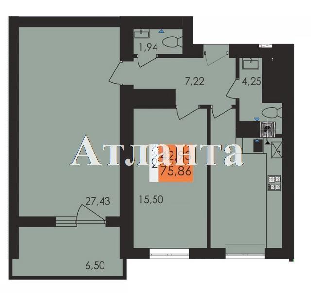 Продается 2-комнатная квартира в новострое на ул. Чехова — 41 530 у.е. (фото №4)