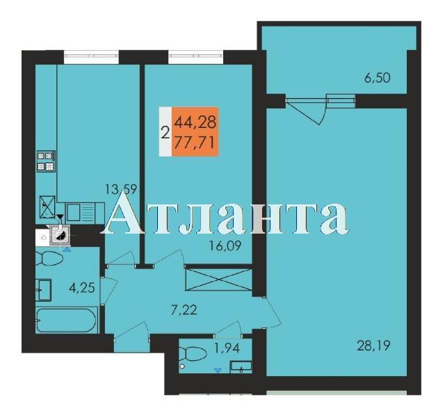 Продается 2-комнатная квартира в новострое на ул. Чехова — 45 430 у.е. (фото №4)