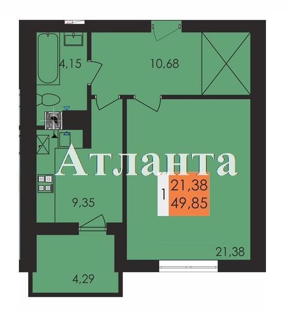Продается 1-комнатная квартира в новострое на ул. Чехова — 31 590 у.е.
