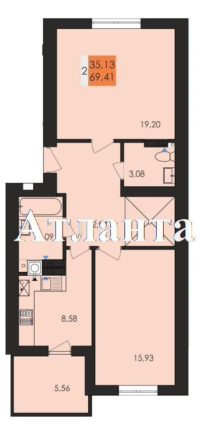 Продается 2-комнатная квартира в новострое на ул. Чехова — 36 930 у.е. (фото №5)