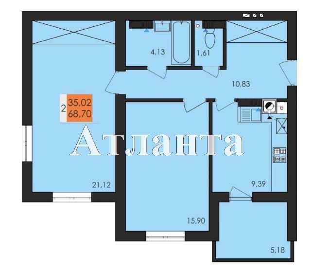 Продается 2-комнатная квартира в новострое на ул. Чехова — 40 170 у.е. (фото №4)