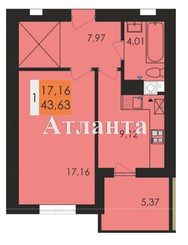 Продается 1-комнатная квартира в новострое на ул. Чехова — 24 920 у.е.