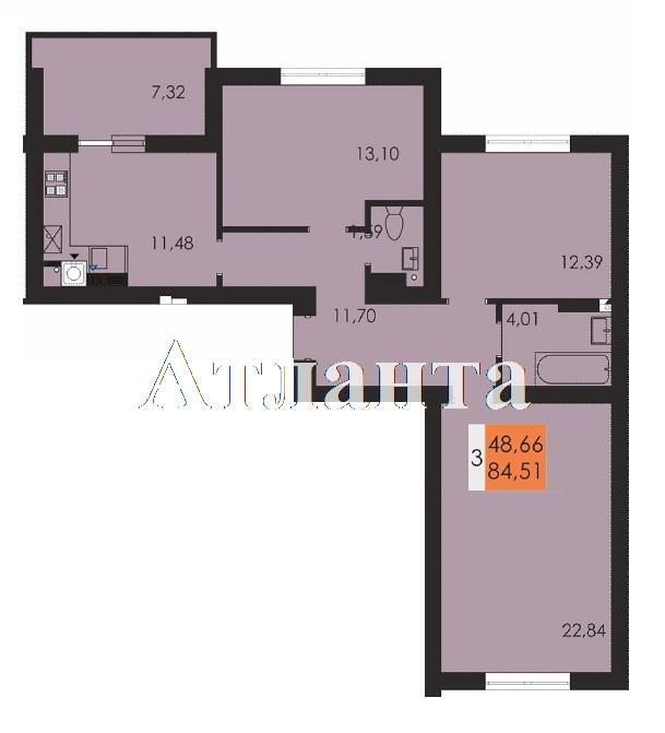Продается 1-комнатная квартира в новострое на ул. Чехова — 47 870 у.е. (фото №4)