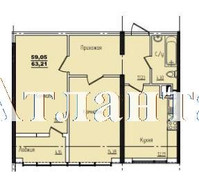 Продается 2-комнатная квартира в новострое на ул. Жм Дружный — 37 840 у.е. (фото №3)