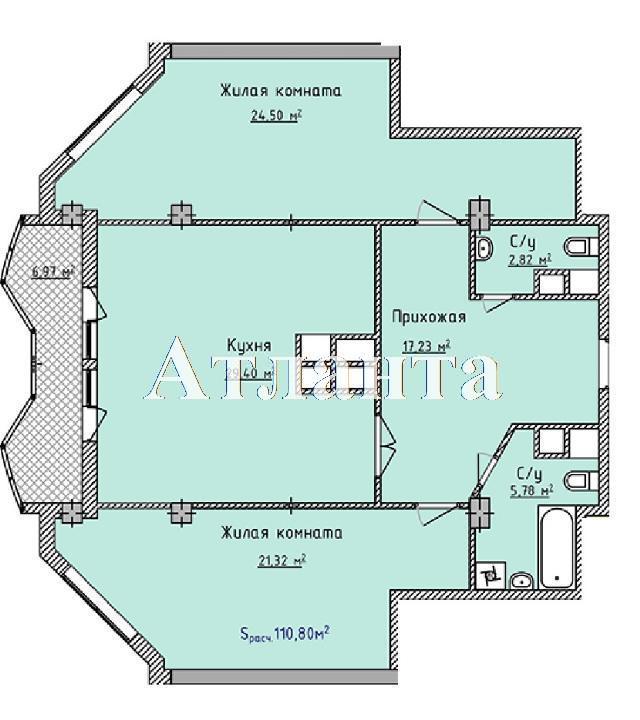 Продается 2-комнатная квартира в новострое на ул. Фонтанская Дор. — 101 940 у.е. (фото №6)