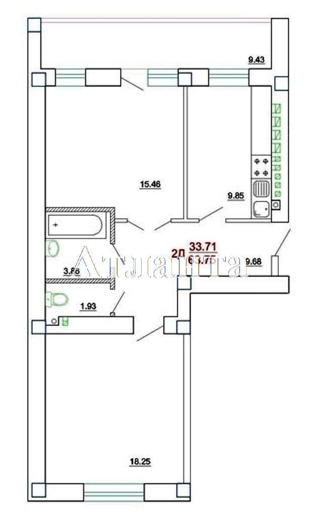 Продается 2-комнатная квартира в новострое на ул. Генерала Цветаева — 31 240 у.е. (фото №6)
