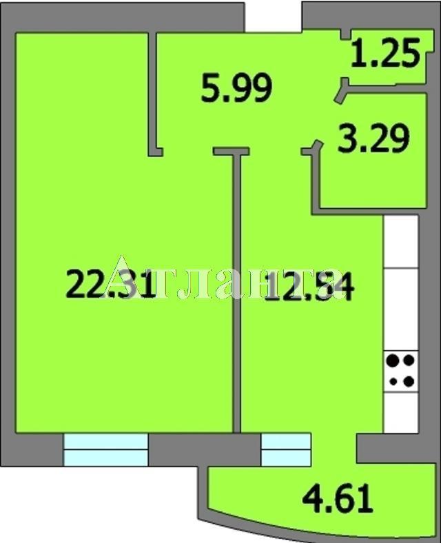 Продается 1-комнатная квартира в новострое на ул. Генерала Цветаева — 25 710 у.е.