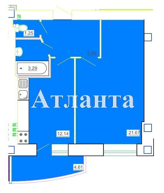 Продается 1-комнатная квартира в новострое на ул. Генерала Цветаева — 23 450 у.е. (фото №6)