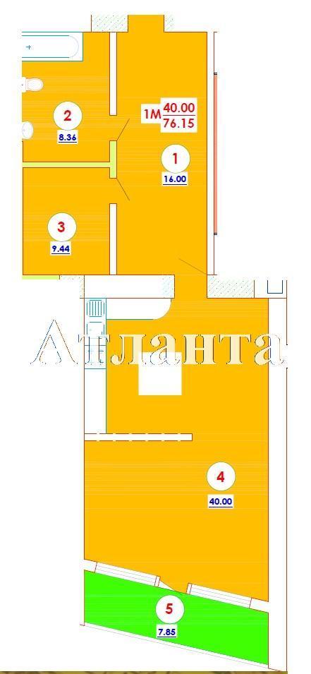 Продается 1-комнатная квартира в новострое на ул. Генерала Цветаева — 49 500 у.е. (фото №5)