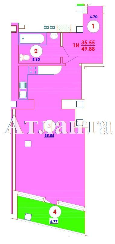 Продается 1-комнатная квартира в новострое на ул. Генерала Цветаева — 32 420 у.е.