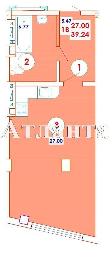 Продается 1-комнатная квартира в новострое на ул. Генерала Цветаева — 25 510 у.е. (фото №6)