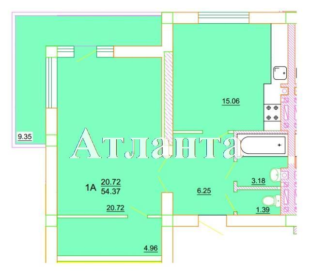 Продается 1-комнатная квартира в новострое на ул. Генерала Цветаева — 26 100 у.е. (фото №7)