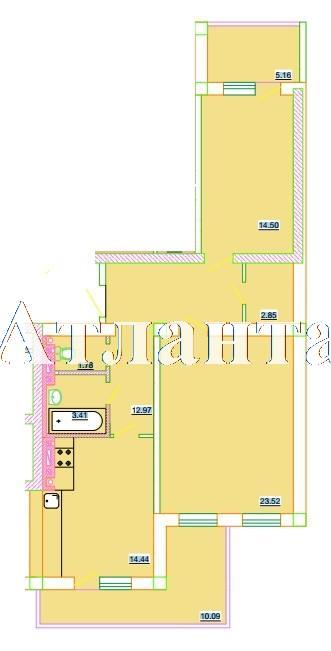 Продается 2-комнатная квартира в новострое на ул. Генерала Цветаева — 37 320 у.е.
