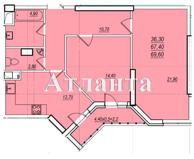 Продается 2-комнатная квартира в новострое на ул. Проценко — 45 080 у.е. (фото №5)