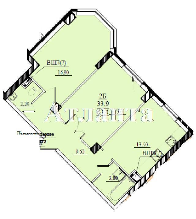 Продается 2-комнатная квартира в новострое на ул. Проценко — 40 500 у.е.