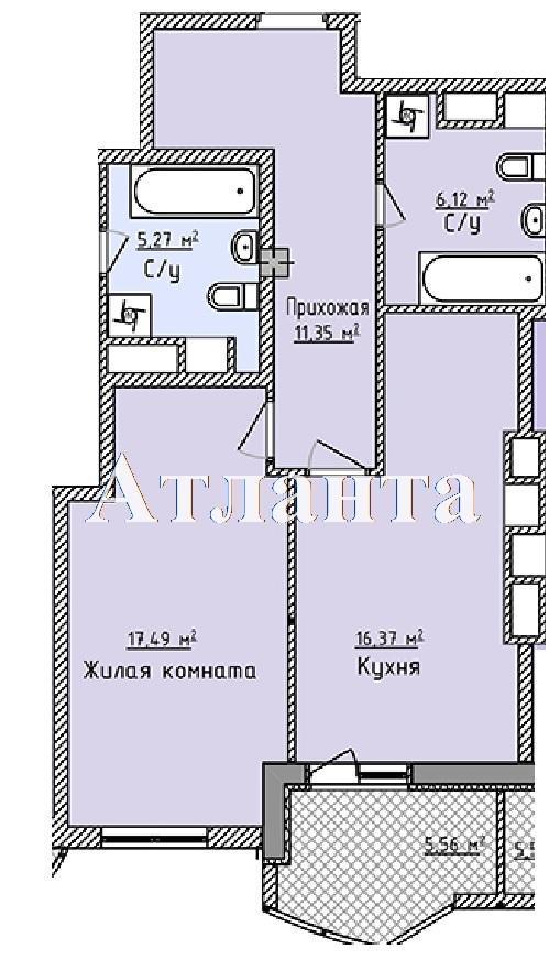 Продается 1-комнатная квартира в новострое на ул. Фонтанская Дор. — 49 390 у.е. (фото №7)