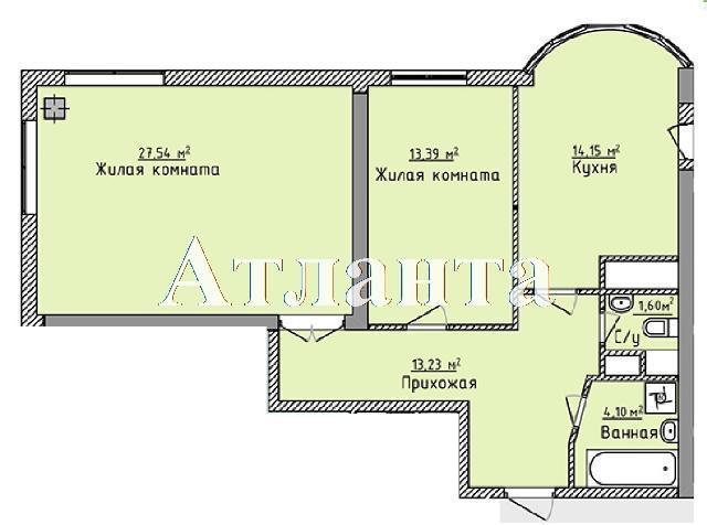 Продается 1-комнатная квартира в новострое на ул. Фонтанская Дор. — 69 030 у.е. (фото №7)
