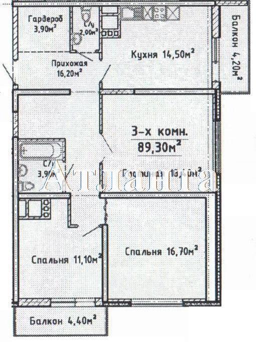Продается 1-комнатная квартира в новострое на ул. Среднефонтанская — 89 220 у.е.