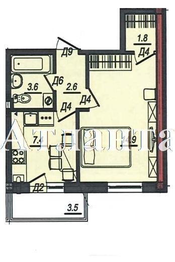 Продается 1-комнатная квартира в новострое на ул. Люстдорфская Дорога — 28 210 у.е. (фото №4)