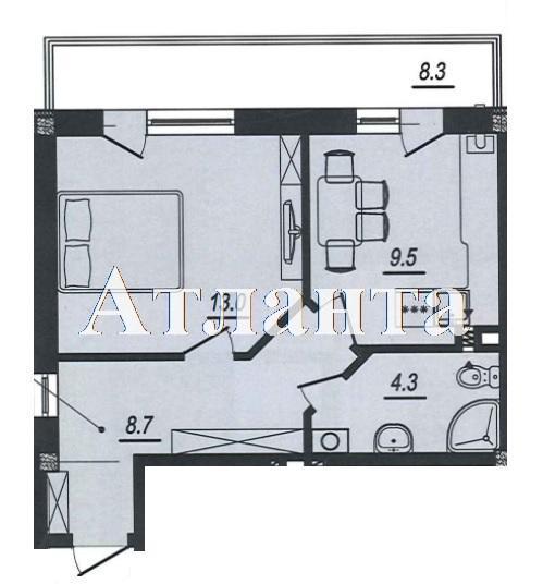Продается 1-комнатная квартира в новострое на ул. Люстдорфская Дорога — 30 180 у.е. (фото №4)