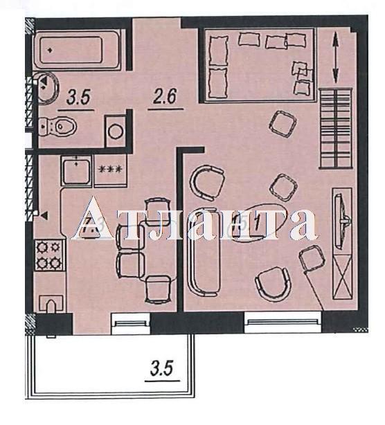 Продается 1-комнатная квартира в новострое на ул. Люстдорфская Дорога — 27 080 у.е.