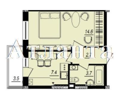Продается 1-комнатная квартира в новострое на ул. Люстдорфская Дорога — 25 070 у.е. (фото №6)