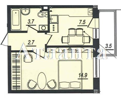Продается 1-комнатная квартира в новострое на ул. Люстдорфская Дорога — 23 950 у.е. (фото №6)