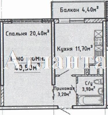 Продается 1-комнатная квартира в новострое на ул. Среднефонтанская — 37 000 у.е. (фото №2)
