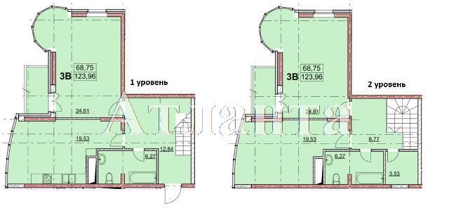Продается Многоуровневая квартира в новострое на ул. Гагаринское Плато — 123 600 у.е. (фото №4)