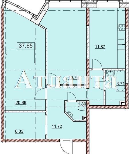 Продается 1-комнатная квартира в новострое на ул. Гагаринское Плато — 67 250 у.е. (фото №4)