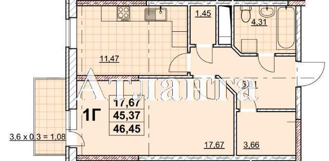 Продается 1-комнатная квартира в новострое на ул. Жаботинского — 36 500 у.е. (фото №4)