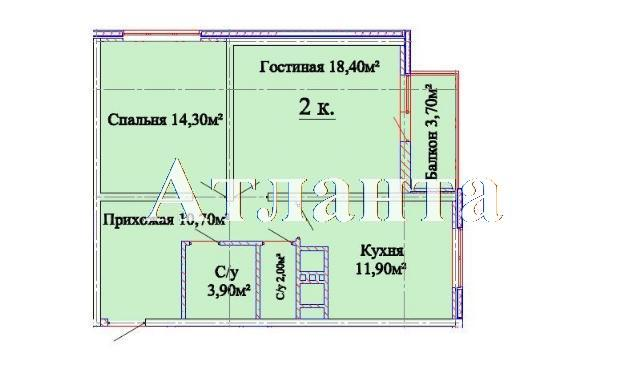 Продается 2-комнатная квартира в новострое на ул. Люстдорфская Дорога — 48 310 у.е. (фото №4)